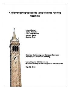 A Telemonitoring Solution to Long-Distance Running Coaching