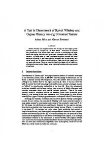 A Test in Discernment of Scotch Whiskey and Cognac Brandy Among Untrained Tasters