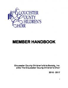 a The Gloucester County Children s Choir