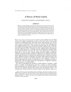 A Theory of Bank Capital