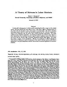A Theory of Fairness in Labor Markets