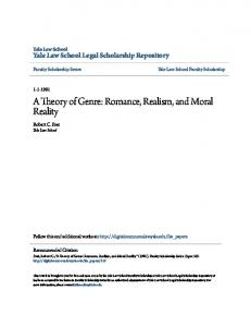 A Theory of Genre: Romance, Realism, and Moral Reality