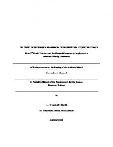 A Thesis presented to the Faculty of the Graduate School. University of Missouri