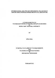 A THESIS SUBMITTED TO THE GRADUATE SCHOOL OF NATURAL AND APPLIED SCIENCES OF MIDDLE EAST TECHNICAL UNIVERSITY UĞUR ÜNAL