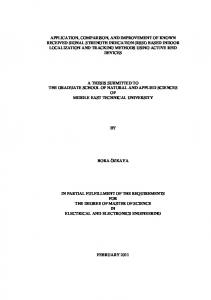 A THESIS SUBMITTED TO THE GRADUATE SCHOOL OF NATURAL AND APPLIED SCIENCES OF MIDDLE EAST TECHNICAL UNIVERSITY BORA ÖZKAYA