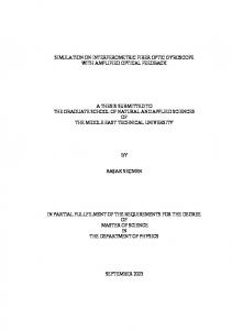 A THESIS SUBMITTED TO THE GRADUATE SCHOOL OF NATURAL AND APPLIED SCIENCES OF THE MIDDLE EAST TECHNICAL UNIVERSITY BAŞAK SEÇMEN