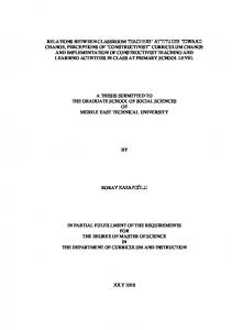 A THESIS SUBMITTED TO THE GRADUATE SCHOOL OF SOCIAL SCIENCES OF MIDDLE EAST TECHNICAL UNIVERSITY KORAY KASAPOĞLU