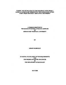 A THESIS SUBMITTED TO THE GRADUATE SCHOOL OF SOCIAL SCIENCES OF MIDDLE EAST TECHNICAL UNIVERSITY ŞERMİN KORKUSUZ