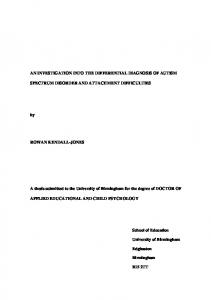 A thesis submitted to the University of Birmingham for the degree of DOCTOR OF