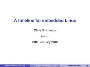 A timeline for embedded Linux