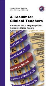 A Toolkit for Clinical Teachers