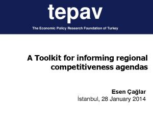A Toolkit for informing regional competitiveness agendas