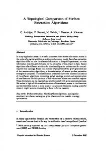 A Topological Comparison of Surface Extraction Algorithms