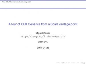 A tour of CLR Generics from a Scala vantage point