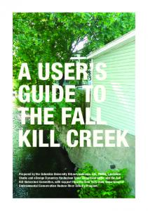 a user s guide to the fall kill creek