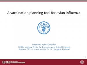 A vaccination planning tool for avian influenza
