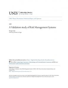 A Validation study of Risk Management Systems