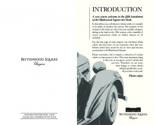 A very warm welcome to the fifth instalment of the Blythswood Square bar book. Please enjoy