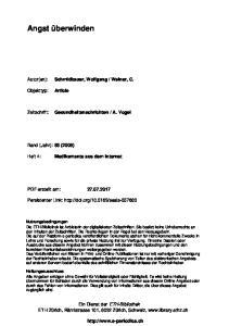A. Vogel. Band (Jahr): 63 (2006) Medikamente aus dem Internet