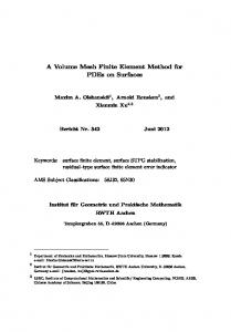 A Volume Mesh Finite Element Method for PDEs on Surfaces