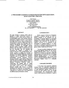 A WEB-BASED LEARNING SYSTEM FOR JXECONCEPTUALIZATION: BASlC ELECTRIC CIRCUITS