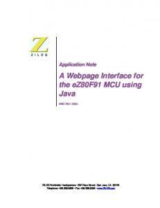A Webpage Interface for the ez80f91 MCU using Java