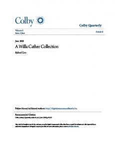 A Willa Cather Collection