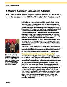 A Winning Approach to Business Adoption