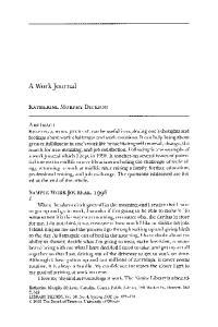 A WorkJournal KATHERINE MURPHYDICKSON