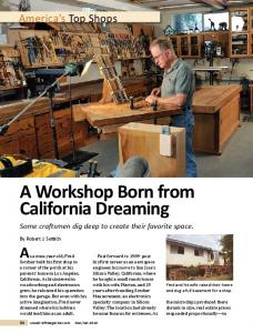 A Workshop Born from California Dreaming