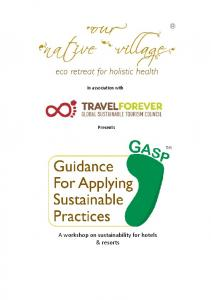 A workshop on sustainability for hotels & resorts