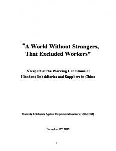 A World Without Strangers, That Excluded Workers