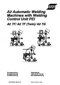 A2 Automatic Welding Machines with Welding Control Unit PEI
