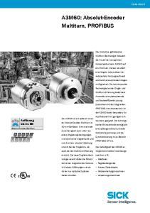 A3M60: Absolut-Encoder Multiturn, PROFIBUS