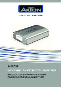 A430DSP 4-CHANNEL SMART DIGITAL AMPLIFIER