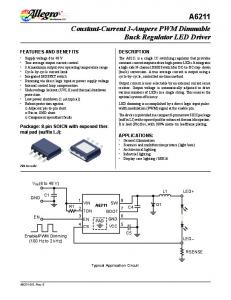 A6211 Constant-Current 3-Ampere PWM Dimmable Buck Regulator LED Driver