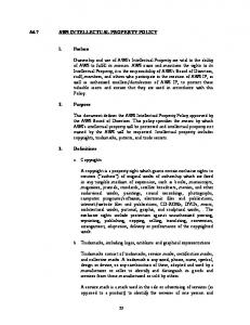 A6.7 INTELLECTUAL PROPERTY POLICY. 1. Preface