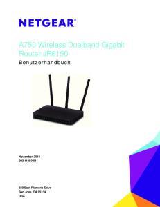 A750 Wireless Dualband Gigabit Router JR6150