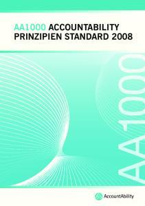AA1000 ACCOUNTABILITY PRINZIPIEN STANDARD 2008