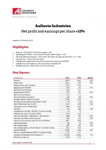 Aalberts Industries Net profit and earnings per share +13%