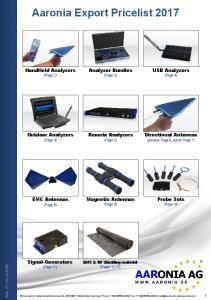 Aaronia Export Pricelist 2017