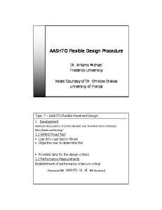 AASHTO Flexible Design Procedure