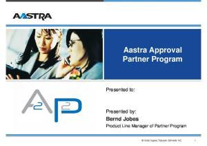 Aastra Approval Partner Program