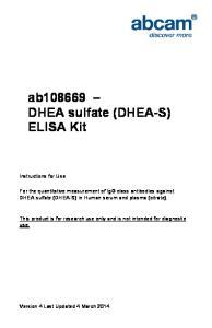 ab DHEA sulfate (DHEA-S) ELISA Kit