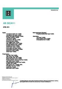 AB SICAV I APRIL 2016 PROSPECTUS