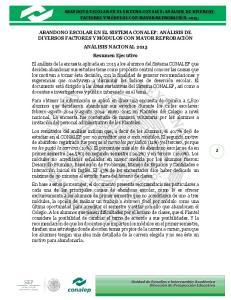 ABANDONO ESCOLAR EN EL SISTEMA CONALEP: ANÁLISIS DE DIVERSOS