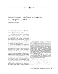 Abastecimiento y hambre en la conquista de Cartagena de Indias