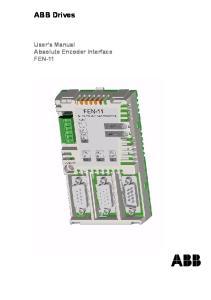 ABB Drives. User s Manual Absolute Encoder Interface FEN-11