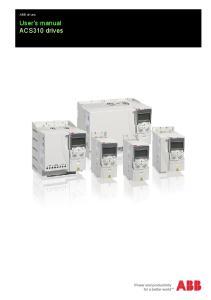 ABB drives. User s manual ACS310 drives