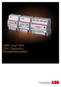 ABB i-bus KNX DALI Gateways Produktinformation
